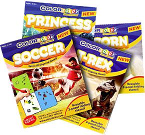 3-fold ColorFoldz Designs (ages 4-12+)
