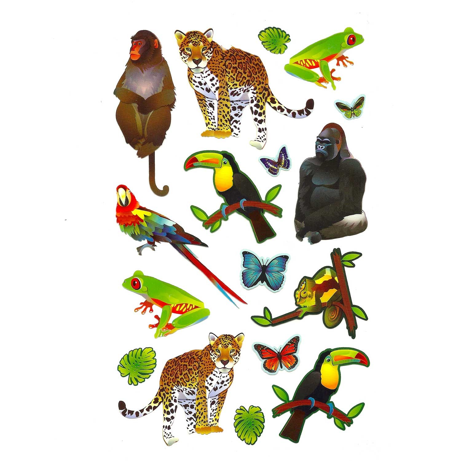jungle animals stickers for colorfoldz self aligning stencils
