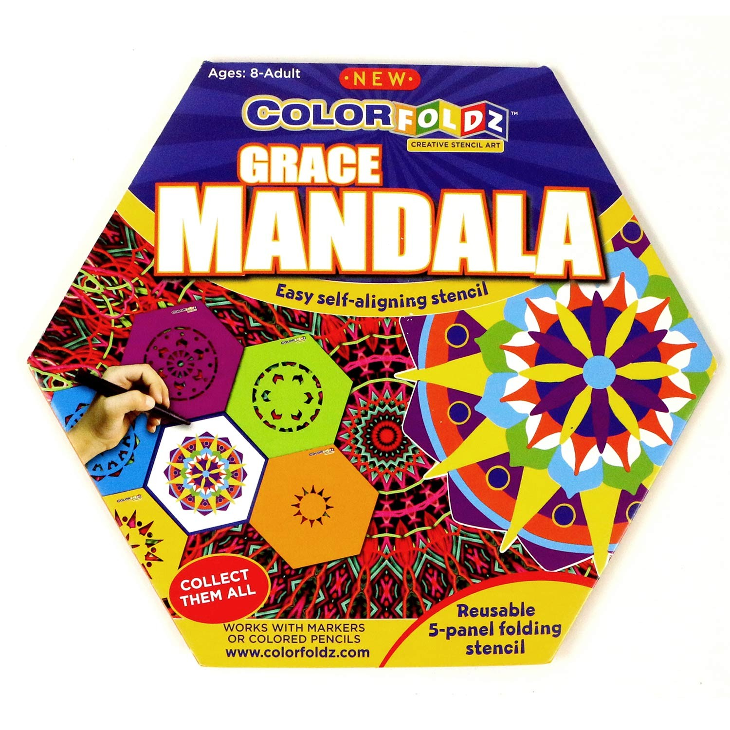 Grace Mandala ColorFoldz Self-Aligning Stencil