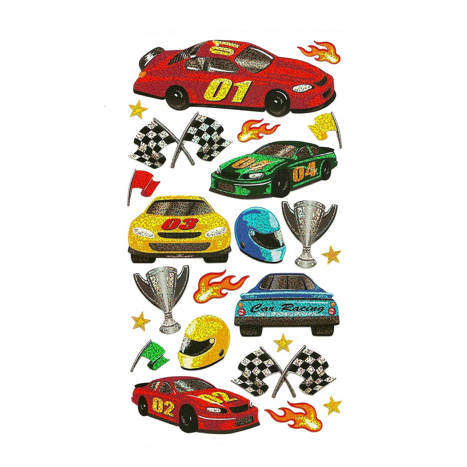 - Race Cars Stickers For ColorFoldz Self-Aligning Stencils