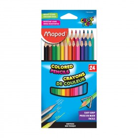 Colored Pencils, Assorted Colors, Pack of 24
