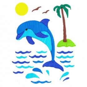 Dolphin ColorFoldz Self-Aligning Stencil