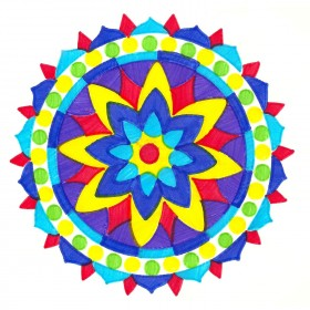 Joy Mandala ColorFoldz Self-Aligning Stencil