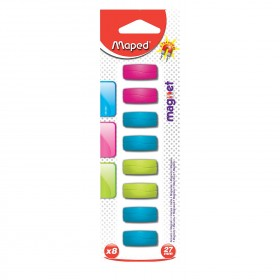 Rectangular Magnets for Refridgerator, Pack of 8, Assorted Colors