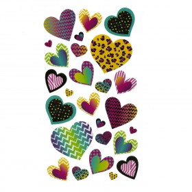 Patterned Hearts Stickers