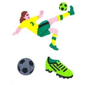 Soccer ColorFoldz Self-Aligning Stencil