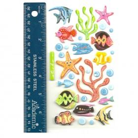 Tropical Fish Vellum Stickers