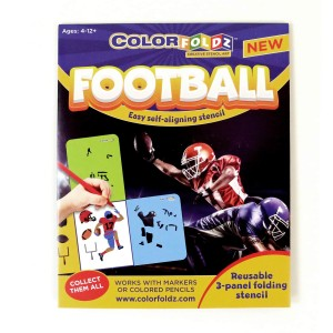 Football ColorFoldz Self-Aligning Stencil