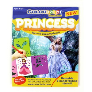 Princess ColorFoldz Self-Aligning Stencil