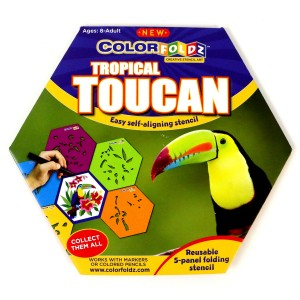 Tropical Toucan ColorFoldz Self-Aligning Stencil