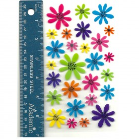 Doodle Daisies Stickers