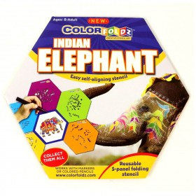Indian Elephant ColorFoldz Self-Aligning Stencil