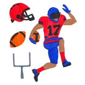 Football ColorFoldz Self-Aligning Stencil