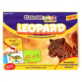 Leopard ColorFoldz Self-Aligning Stencil