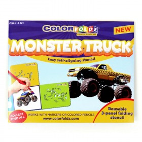 Monster Truck ColorFoldz Self-Aligning Stencil