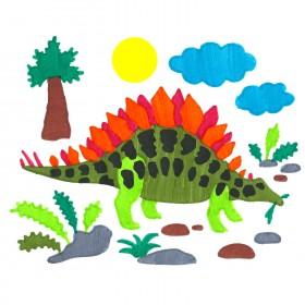 Stegosaurus ColorFoldz Self-Aligning Stencil