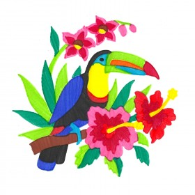 Tropical Toucan ColorFoldz Self-Aligning Stencil