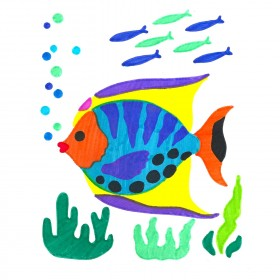 Tropical Fish ColorFoldz Self-Aligning Stencil