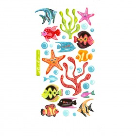 Tropical Fish Vellum Stickers